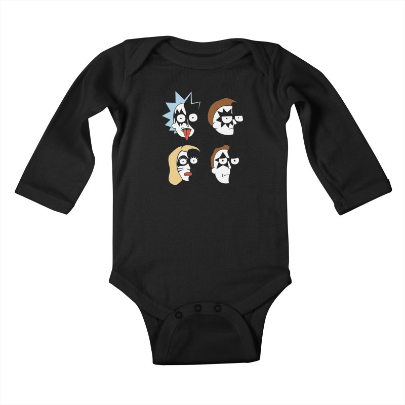 faces Kids Baby Longsleeve Bodysuit by damian's Artist Shop