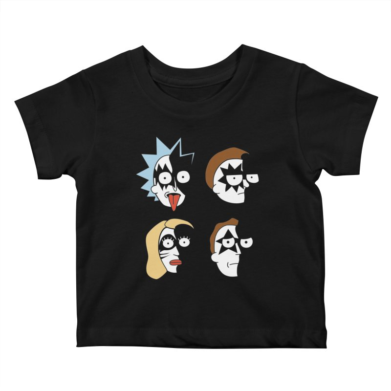 faces Kids Baby T-Shirt by damian's Artist Shop