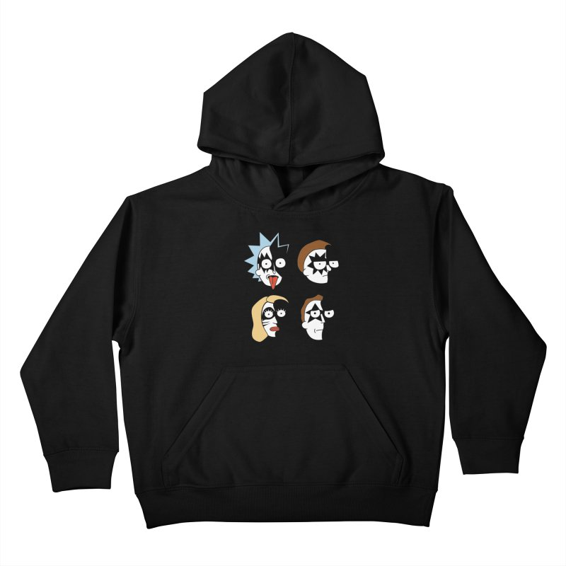faces Kids Pullover Hoody by damian's Artist Shop