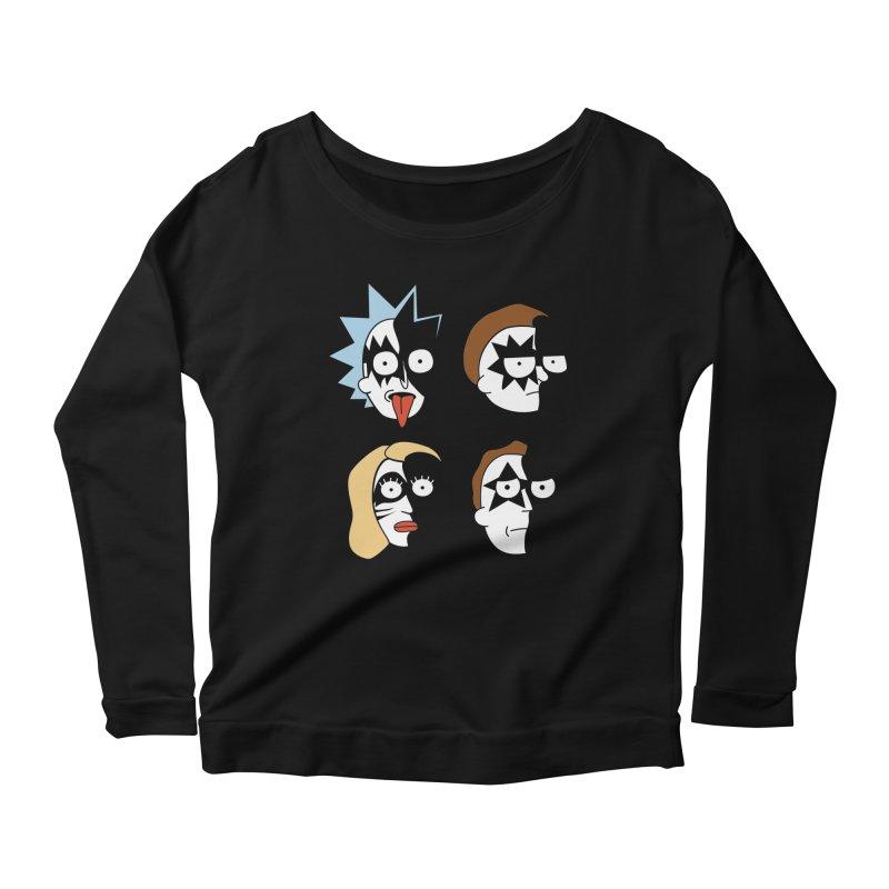 faces Women's Scoop Neck Longsleeve T-Shirt by damian's Artist Shop