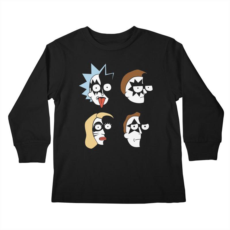 faces Kids Longsleeve T-Shirt by damian's Artist Shop