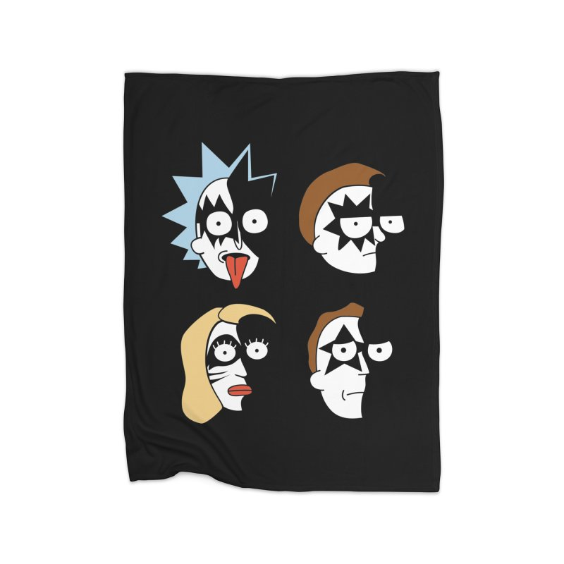 faces Home Fleece Blanket Blanket by damian's Artist Shop