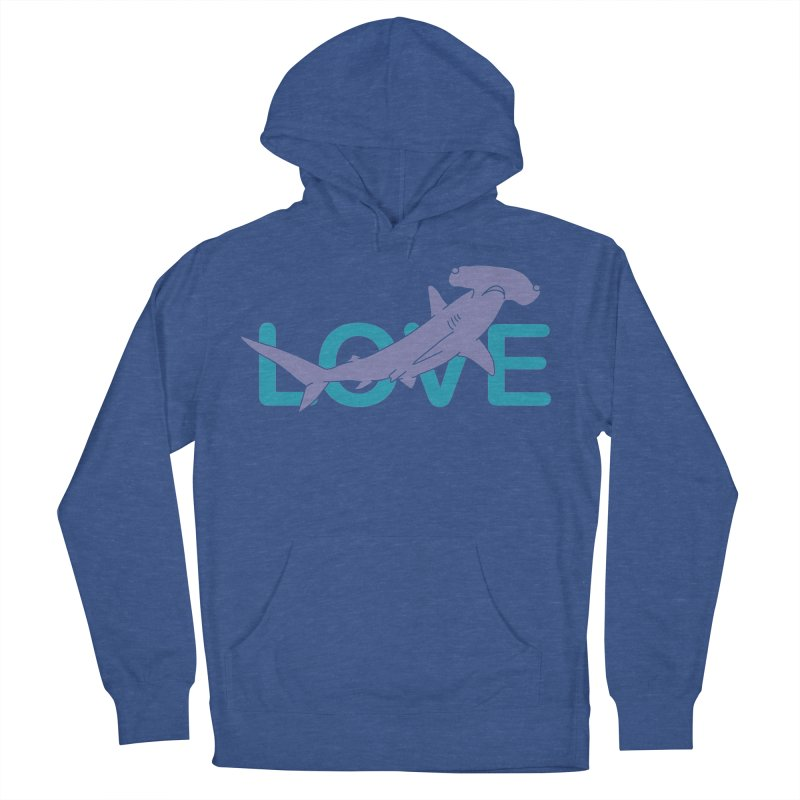 LOVE TIBURON Men's French Terry Pullover Hoody by damian's Artist Shop