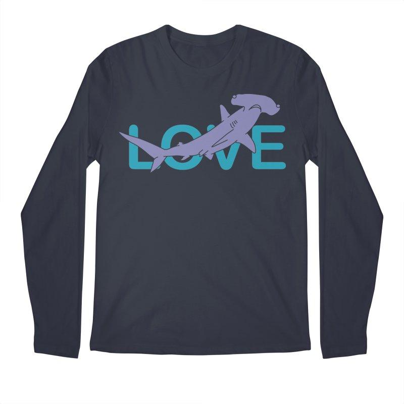 LOVE TIBURON Men's Regular Longsleeve T-Shirt by damian's Artist Shop