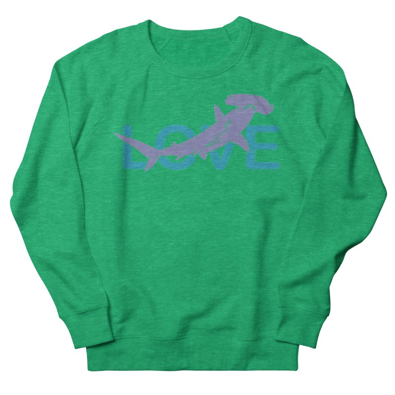 LOVE TIBURON Women's French Terry Sweatshirt by damian's Artist Shop