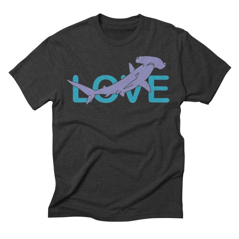 LOVE TIBURON Men's Triblend T-Shirt by damian's Artist Shop