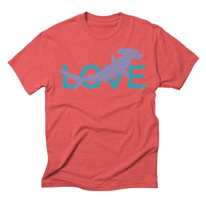 LOVE TIBURON Men's Triblend T-Shirt by damian's Artist Shop