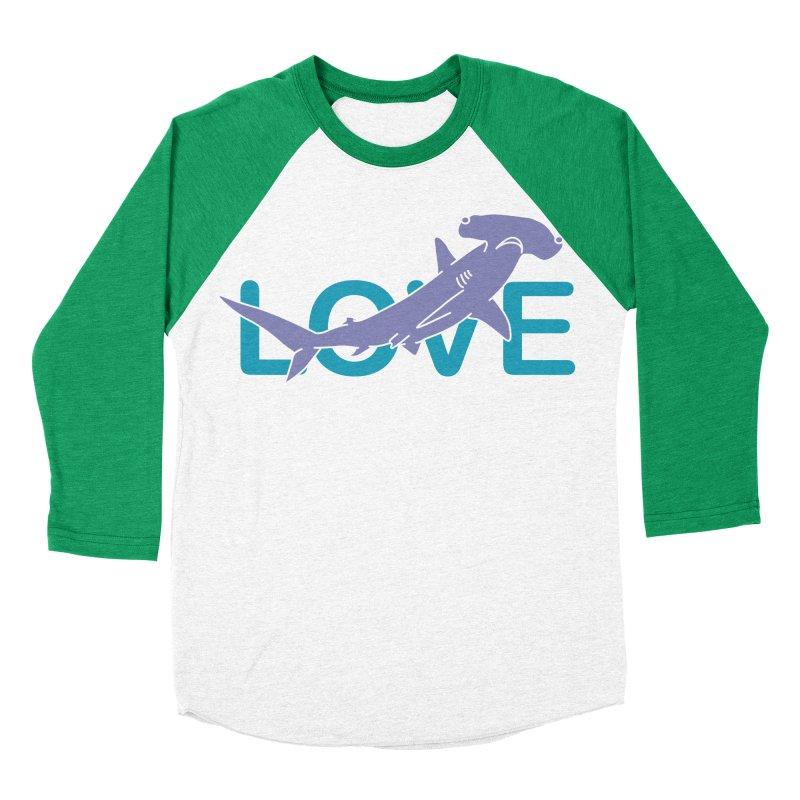 LOVE TIBURON Women's Baseball Triblend Longsleeve T-Shirt by damian's Artist Shop