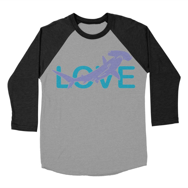 LOVE TIBURON Women's Baseball Triblend Longsleeve T-Shirt by damian's Artist Shop