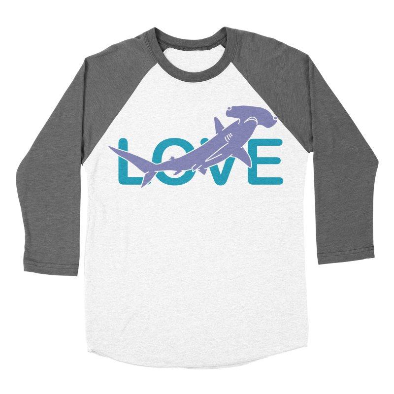 LOVE TIBURON Men's Baseball Triblend Longsleeve T-Shirt by damian's Artist Shop