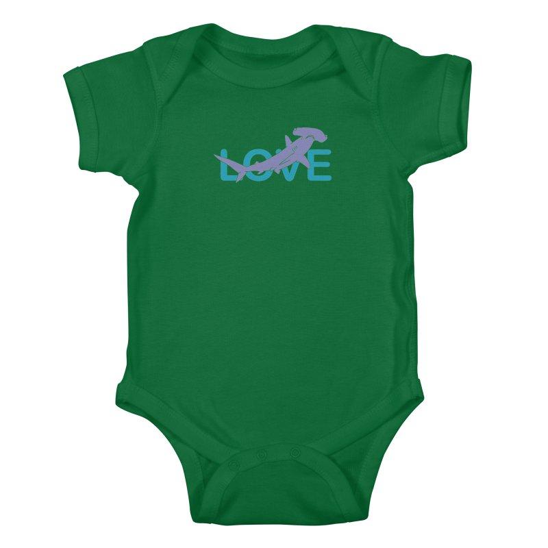 LOVE TIBURON Kids Baby Bodysuit by damian's Artist Shop