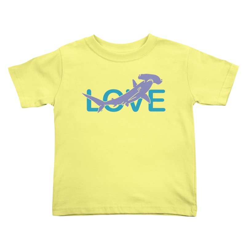 LOVE TIBURON Kids Toddler T-Shirt by damian's Artist Shop