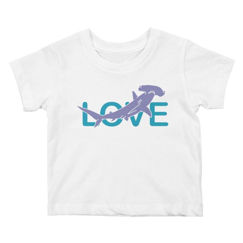 LOVE TIBURON Kids Baby T-Shirt by damian's Artist Shop