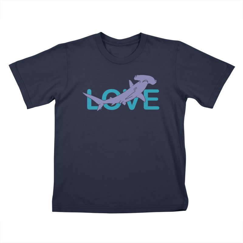 LOVE TIBURON Kids T-Shirt by damian's Artist Shop