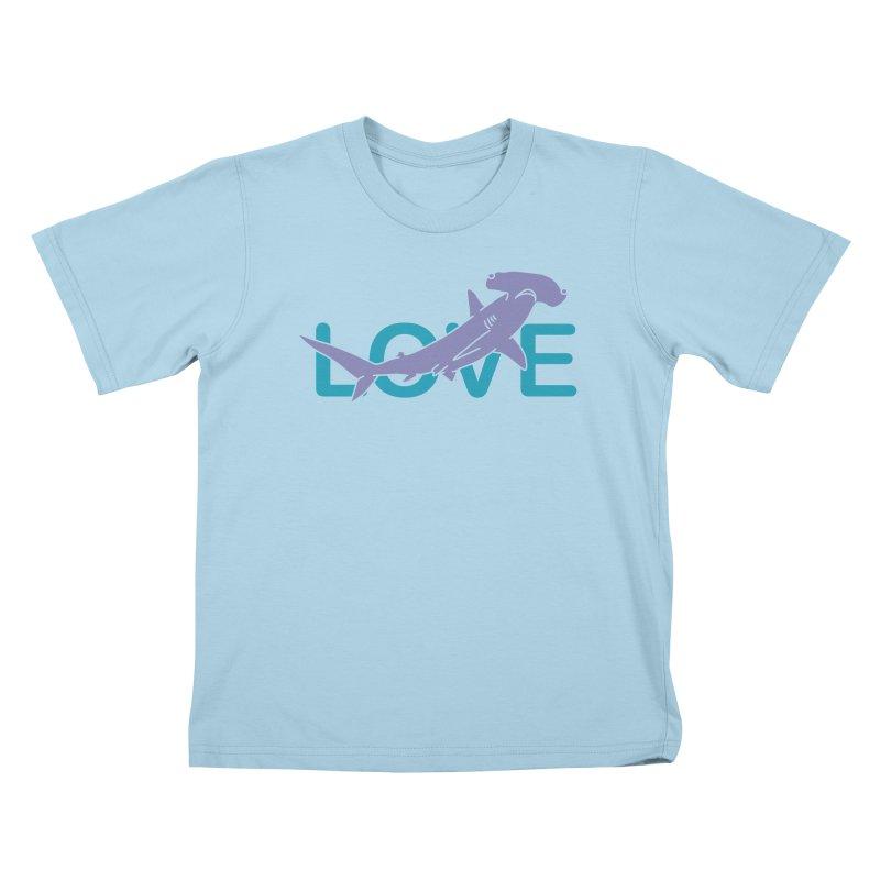 LOVE TIBURON Kids T-Shirt by damian's Artist Shop
