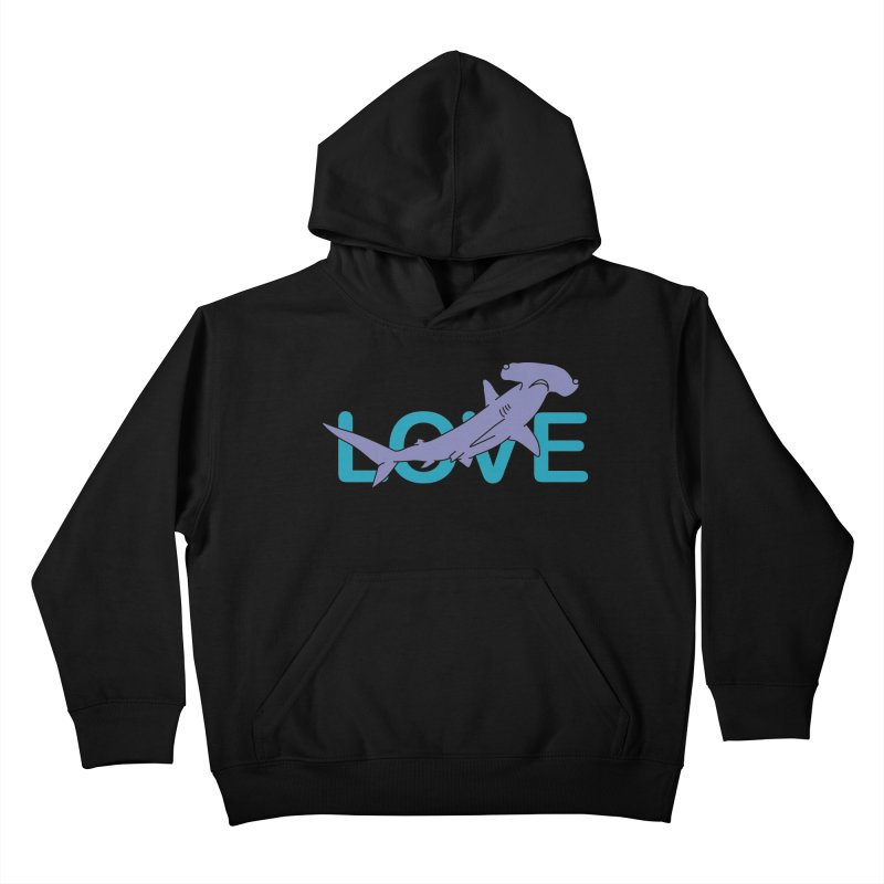 LOVE TIBURON Kids Pullover Hoody by damian's Artist Shop