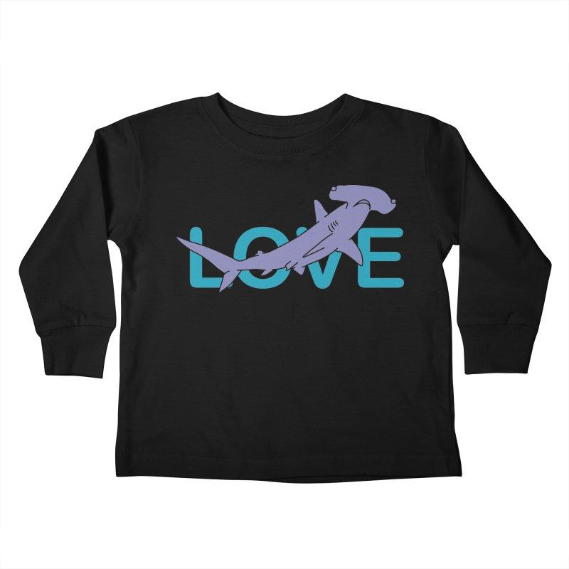 LOVE TIBURON Kids Toddler Longsleeve T-Shirt by damian's Artist Shop