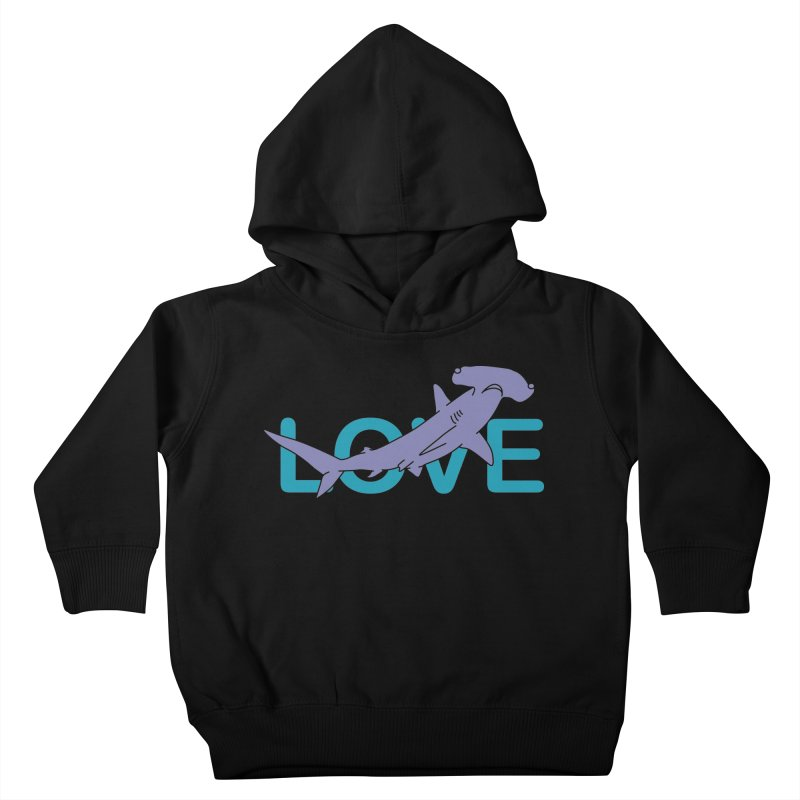 LOVE TIBURON Kids Toddler Pullover Hoody by damian's Artist Shop