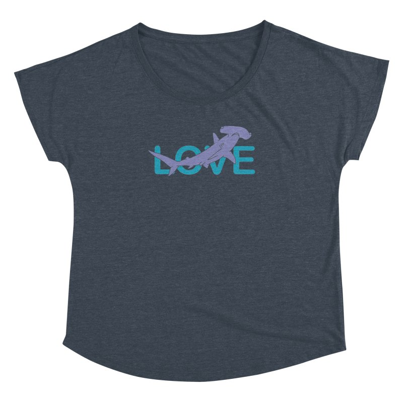 LOVE TIBURON Women's Dolman Scoop Neck by damian's Artist Shop