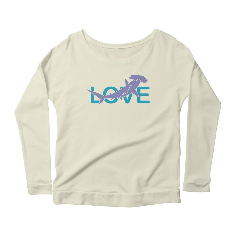 LOVE TIBURON Women's Scoop Neck Longsleeve T-Shirt by damian's Artist Shop