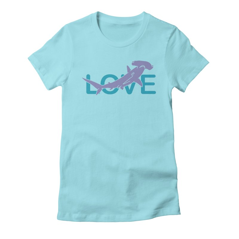 LOVE TIBURON Women's Fitted T-Shirt by damian's Artist Shop