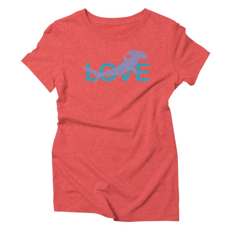 LOVE TIBURON Women's Triblend T-Shirt by damian's Artist Shop