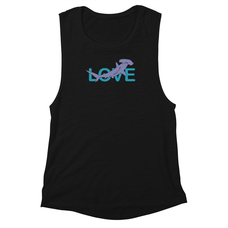 LOVE TIBURON Women's Muscle Tank by damian's Artist Shop