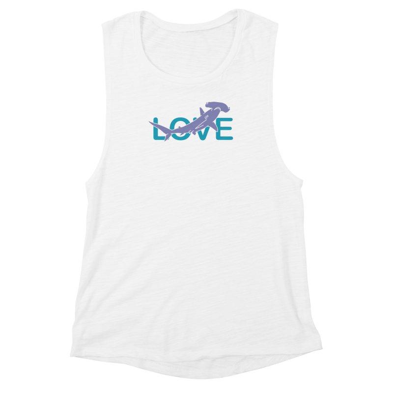 LOVE TIBURON Women's Muscle Tank by damian's Artist Shop