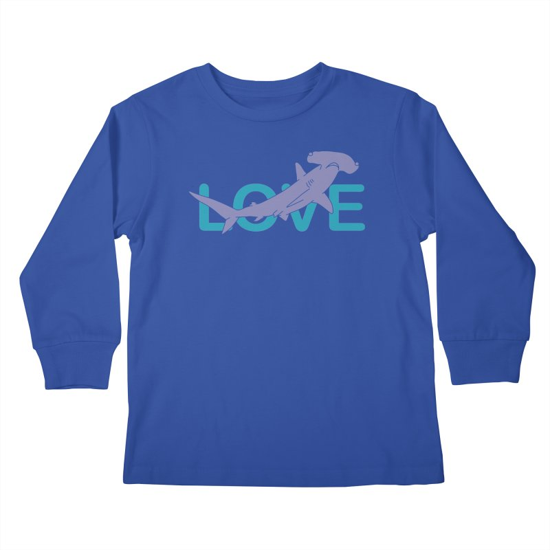 LOVE TIBURON Kids Longsleeve T-Shirt by damian's Artist Shop