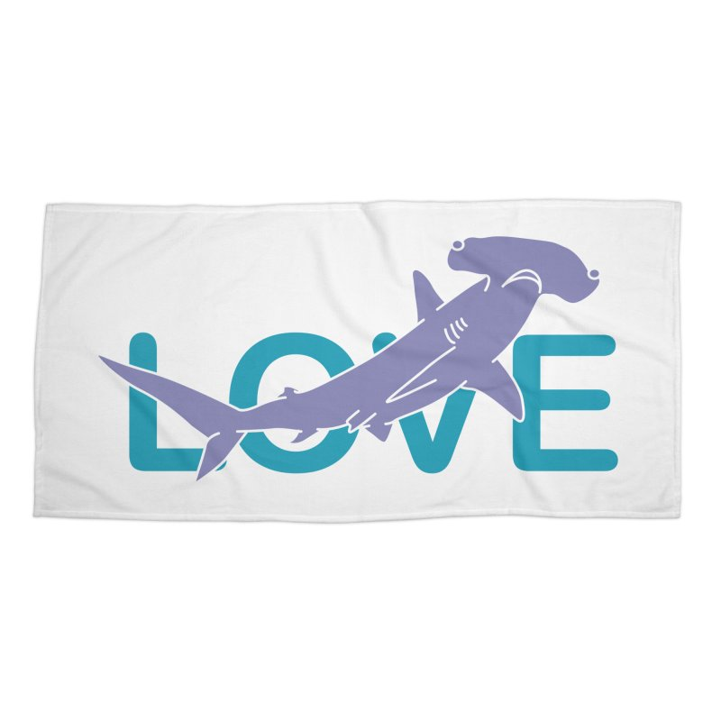 LOVE TIBURON Accessories Beach Towel by damian's Artist Shop