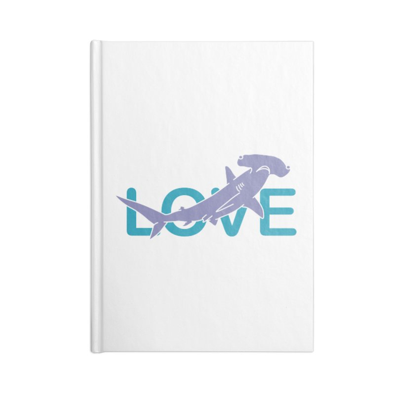 LOVE TIBURON Accessories Blank Journal Notebook by damian's Artist Shop
