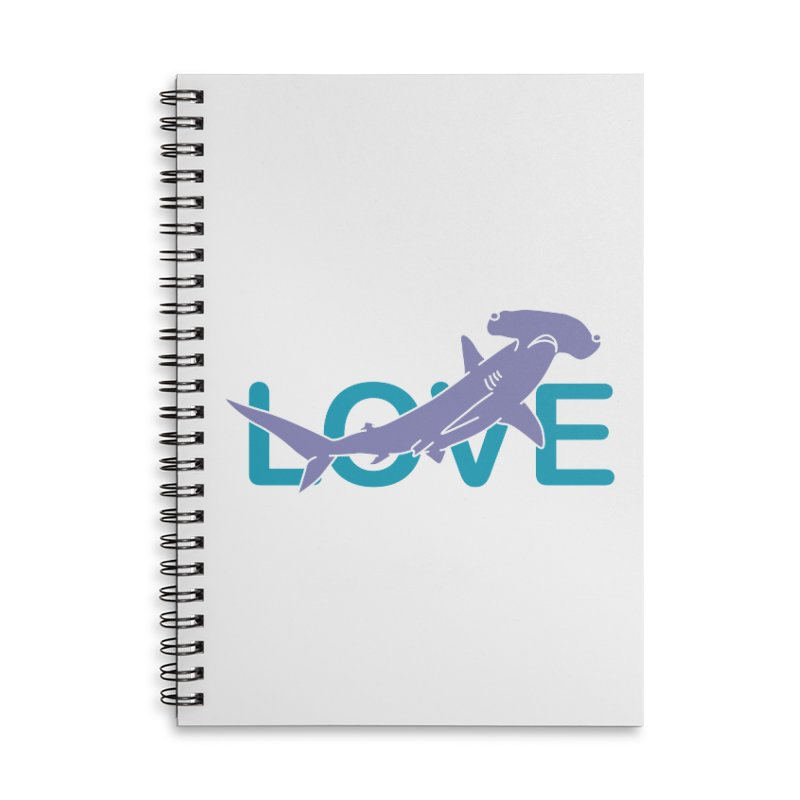 LOVE TIBURON Accessories Lined Spiral Notebook by damian's Artist Shop