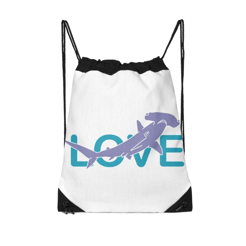 LOVE TIBURON Accessories Drawstring Bag Bag by damian's Artist Shop