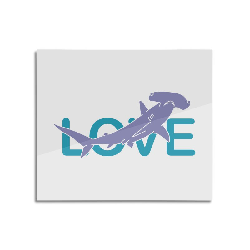 LOVE TIBURON Home Mounted Aluminum Print by damian's Artist Shop