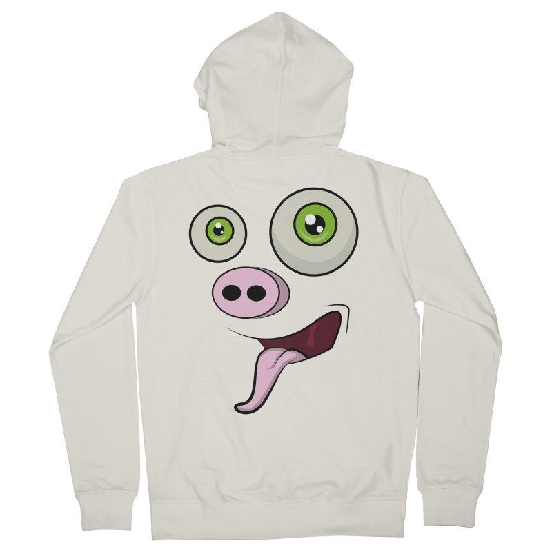cerdo face Women's Zip-Up Hoody by damian's Artist Shop