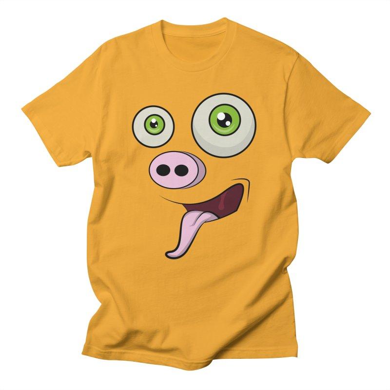 cerdo face Men's T-shirt by damian's Artist Shop