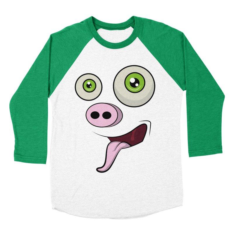 cerdo face Men's Baseball Triblend T-Shirt by damian's Artist Shop
