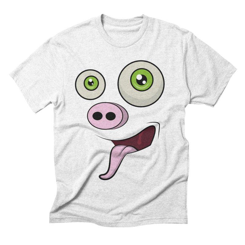 cerdo face Men's Triblend T-shirt by damian's Artist Shop
