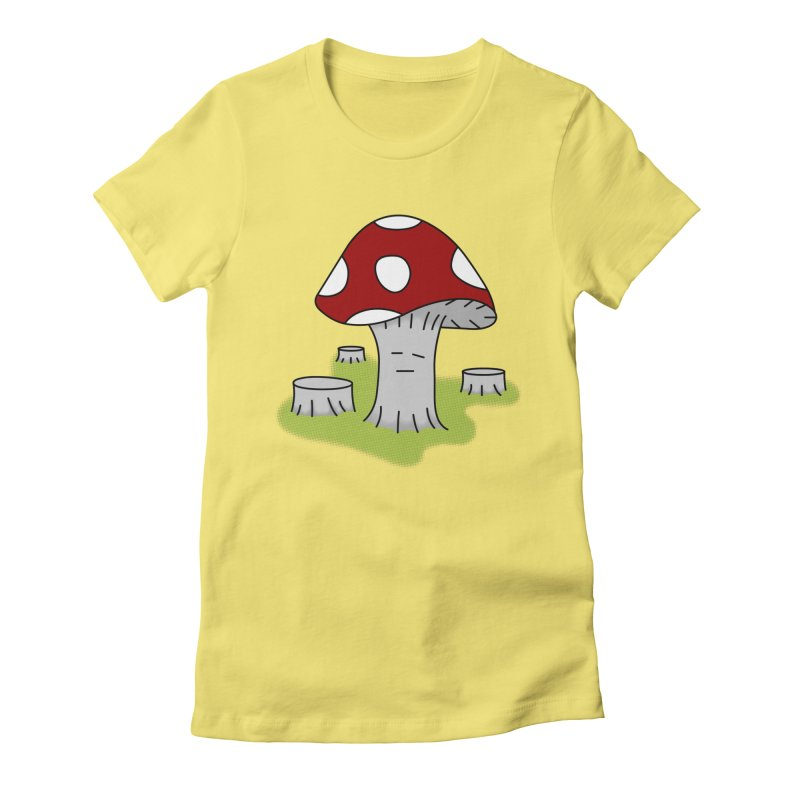 hongos arbol Women's Fitted T-Shirt by damian's Artist Shop