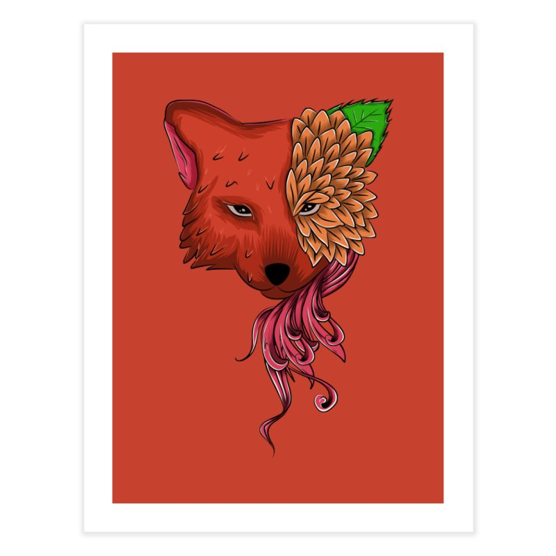 Fox flower Home Fine Art Print by damian's Artist Shop