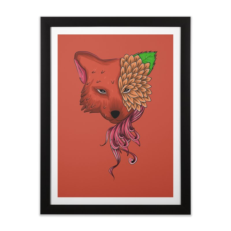 Fox flower Home Framed Fine Art Print by damian's Artist Shop