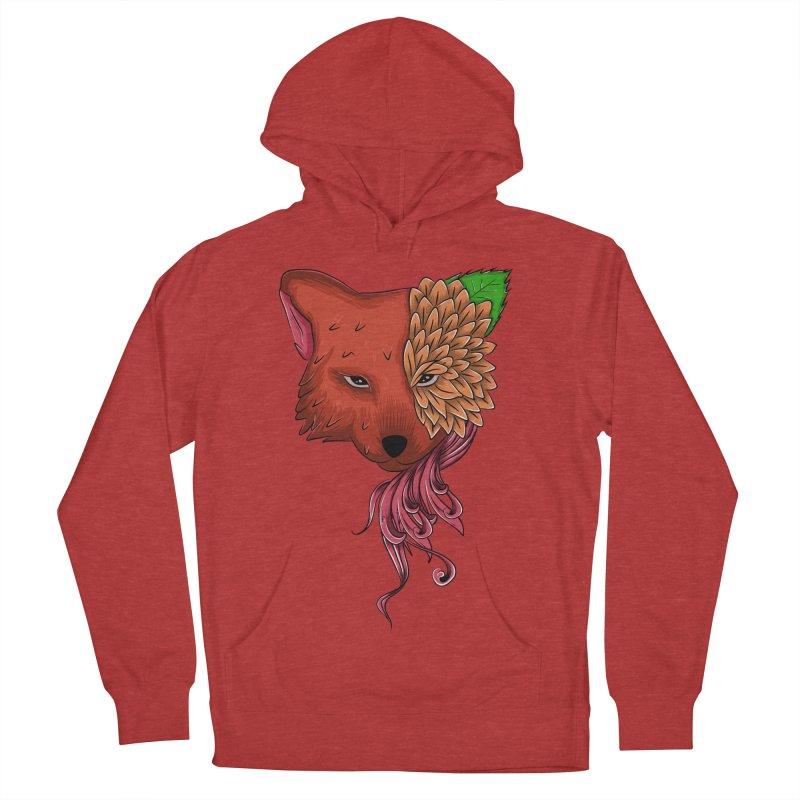 Fox flower Women's Pullover Hoody by damian's Artist Shop