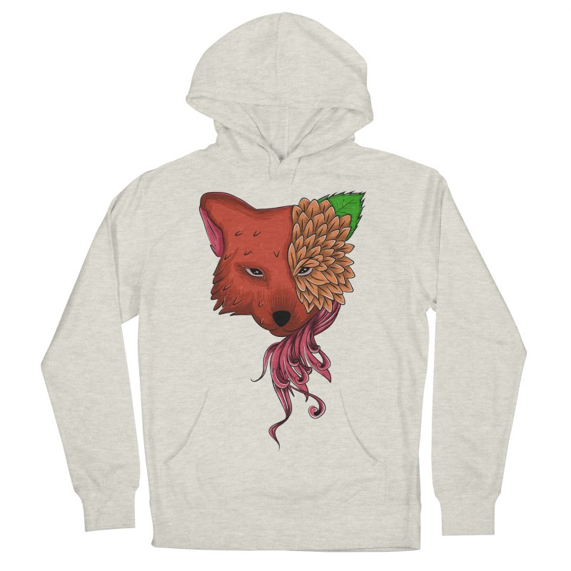 Fox flower Men's Pullover Hoody by damian's Artist Shop