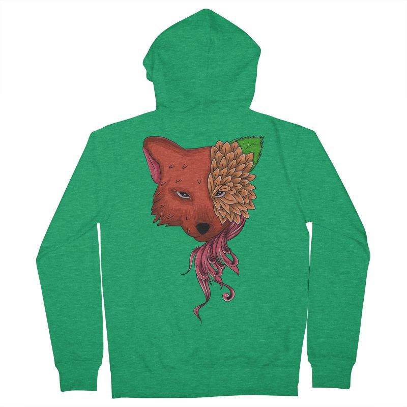 Fox flower Women's Zip-Up Hoody by damian's Artist Shop