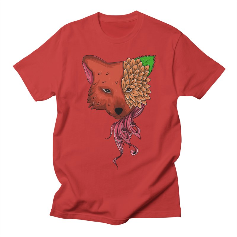 Fox flower Men's T-Shirt by damian's Artist Shop