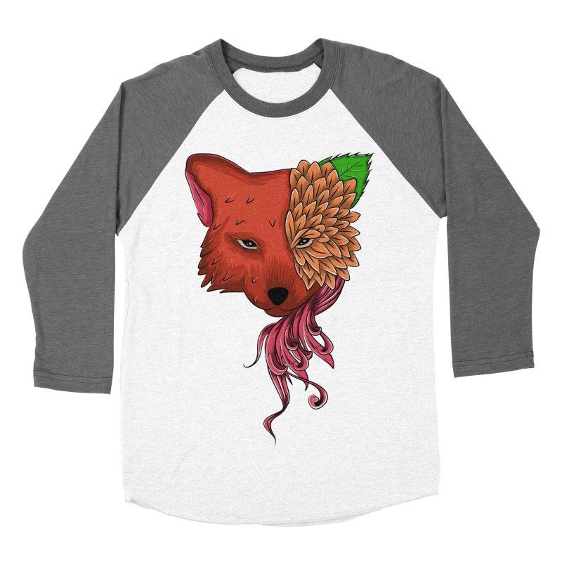 Fox flower Women's Baseball Triblend T-Shirt by damian's Artist Shop