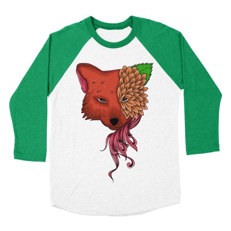 Fox flower Men's Baseball Triblend T-Shirt by damian's Artist Shop