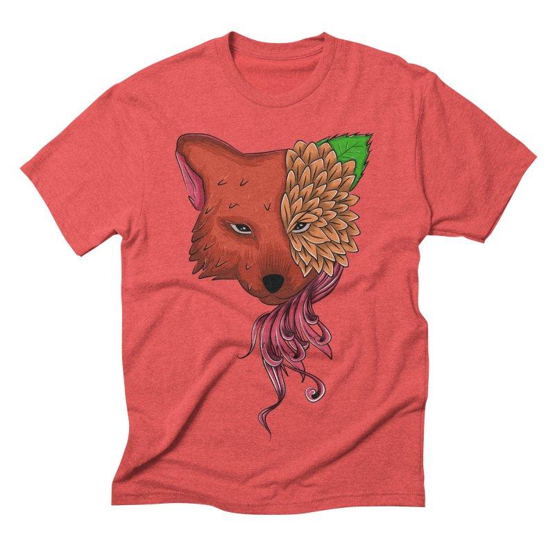 Fox flower Men's Triblend T-shirt by damian's Artist Shop