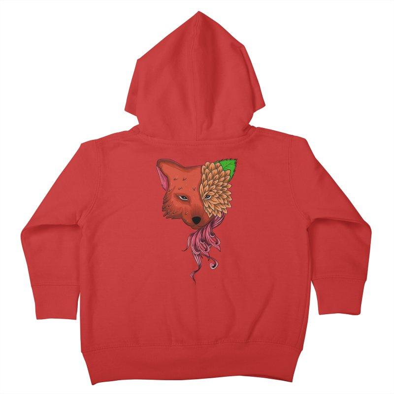 Fox flower Kids Toddler Zip-Up Hoody by damian's Artist Shop