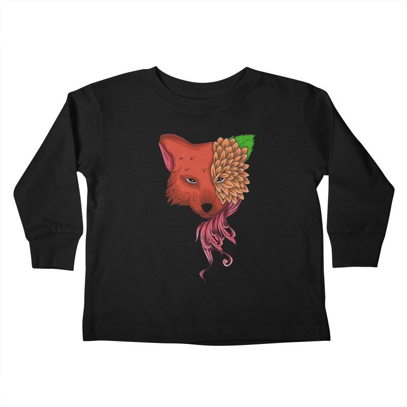 Fox flower Kids Toddler Longsleeve T-Shirt by damian's Artist Shop